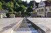 Der künstliche Wasserlauf auf dem Rathausplatz