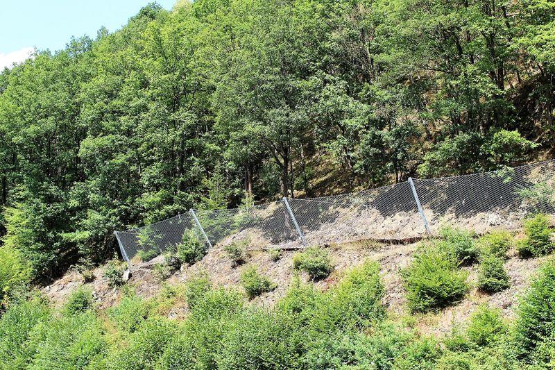 Gesicherter Bereich des Steilhangs