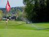 Blick über den Golfplatz auf der Rusel