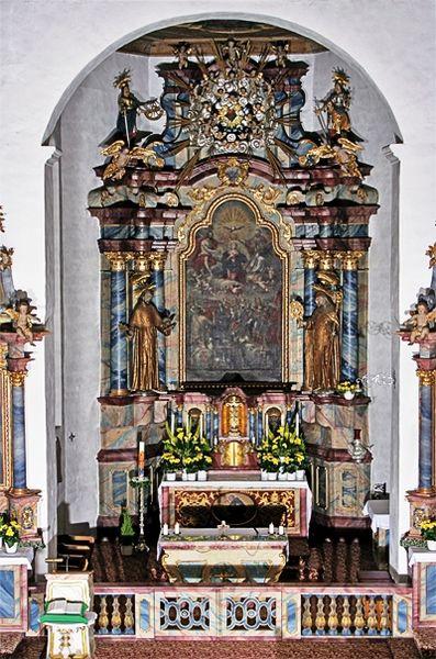 Klosterkirche Wittichen Blick auf Altar