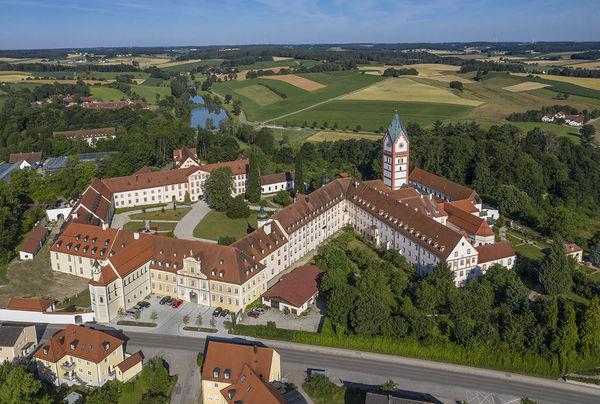 Luftbild der Klosteranlage