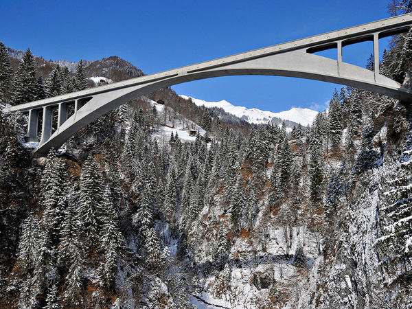 Weltmonument Salginatobelbrücke in Schiers