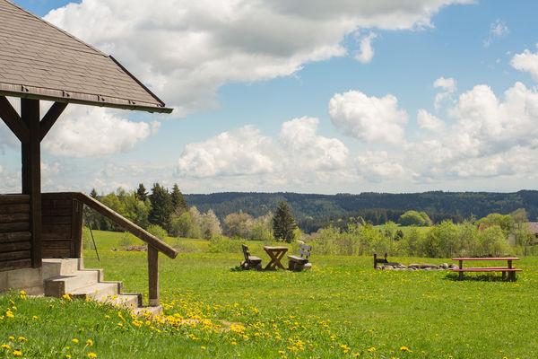 Grillhütte und Sitzgelegenheiten | Grillplatz Schönenbach