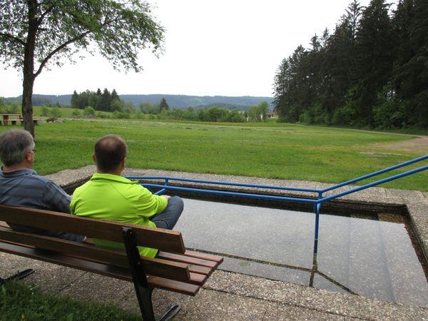 Rast an der Wassertretstelle Schönenbach