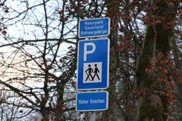 Herzlich Willkommen auf dem Wanderparkplatz Hoher Knochen