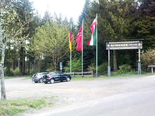 Der Wanderparkplatz in Schanze