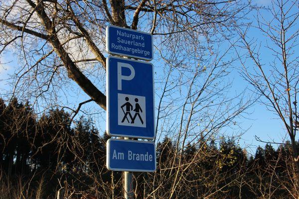 Willkommen beim Wanderparkplatz