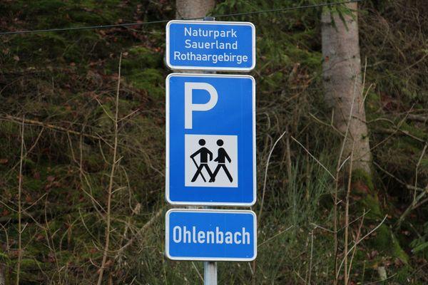 Herzlich Willkommen auf dem Wanderparkplatz Ohlenbach