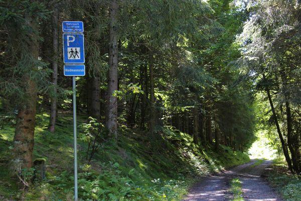Hinweis zum Wanderparkplatz