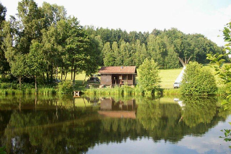 Angeln am Rötzer Weiher bei Schönberg im Nationalpark-FerienLand Bayerischer Wald