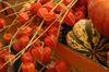 Herbstdeko beim Erntedankfest in Schönberg