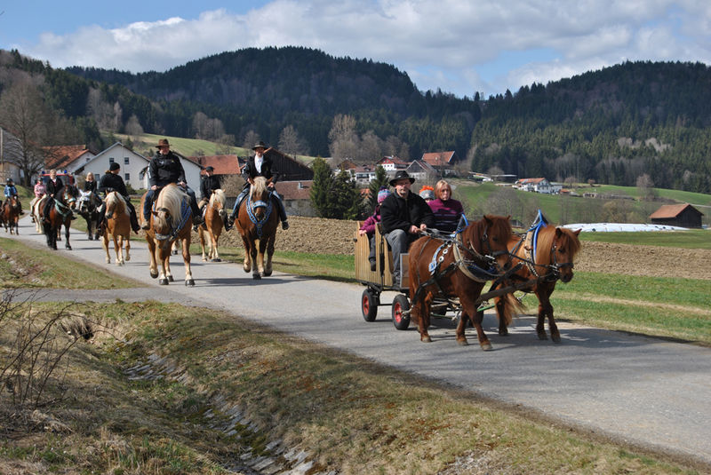 Die jährlich stattfindende Reiterprozession am Palmsonntag in Schönberg