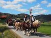 Die Reiter auf dem Weg nach Kirchberg