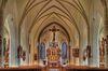 Innenraum der Pfarrkirche in Schönberg