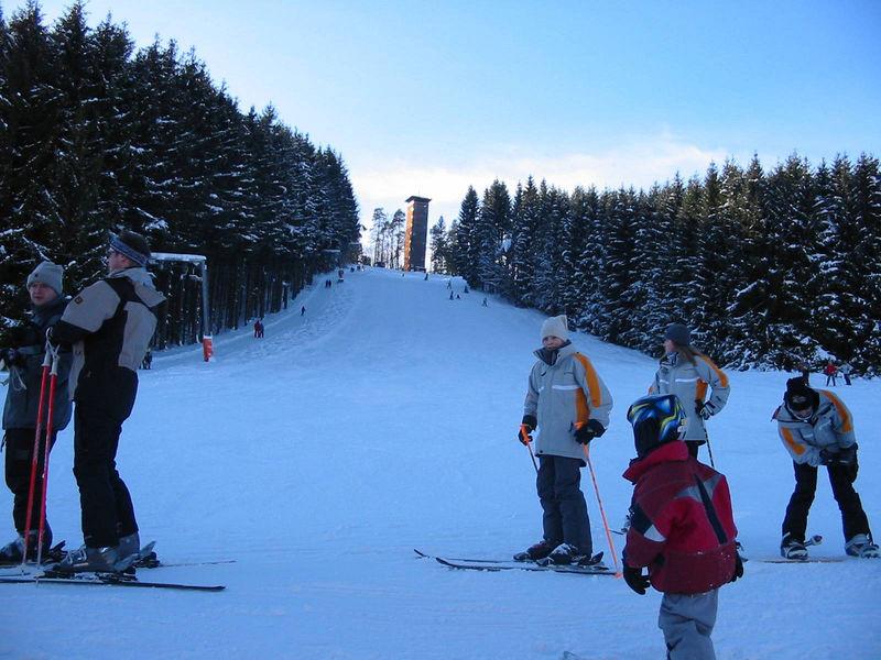 Der Skilift Kadernberg bei Schönberg im Nationalpark-FerienLand Bayerischer Wald