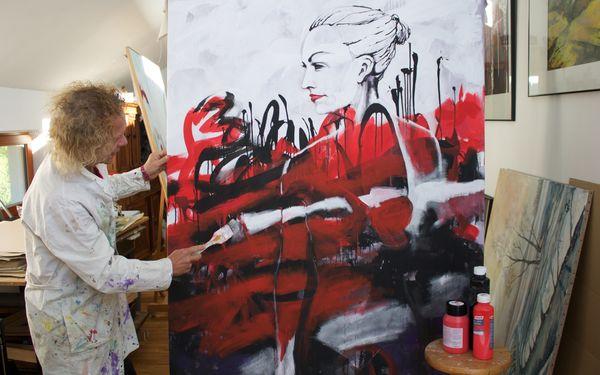 Kunstatelier Olaf Haugk in Schöneiche, Foto: Alexandra Pohnke