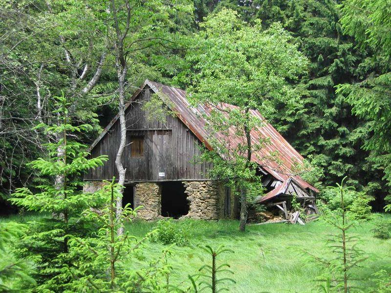 Das verlassene Dorf Bügellohe bei Schönsee im Oberpfälzer Wald.