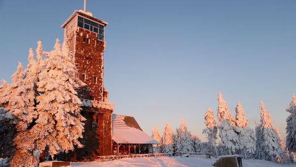 Hornisgrindeturm im Winterkleid