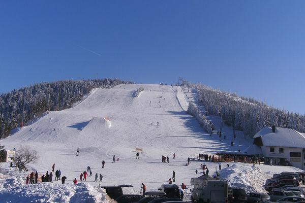 Blick auf den Skihang Seibelseckle