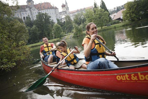 Kanutour bei Schloss Sigmaringen