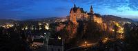 Schloss Sigmaringen bei Nacht vom Mühlberg ausgenommen