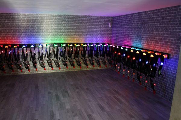 Lasertag-Raum
