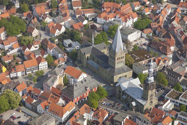 Luftbild Stadtkern Soest