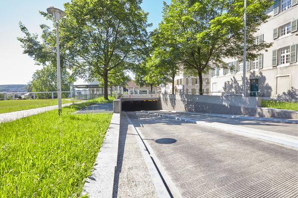 Einfahrt, Parkhaus Baseltor, Solothurn