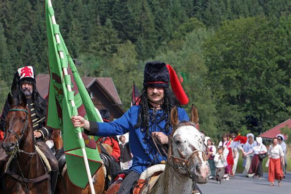 Historischer Festzug mit Freiherr von der Trenck mit seinen Panduren