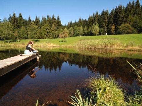 Entspannung am See im Kurpark Spiegelau am Nationalpark Bayerischer Wald