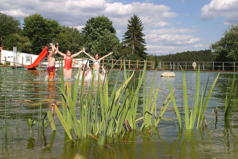 Natürlichen Badespaß für jung und alt bietet das Naturbad in Spiegelau