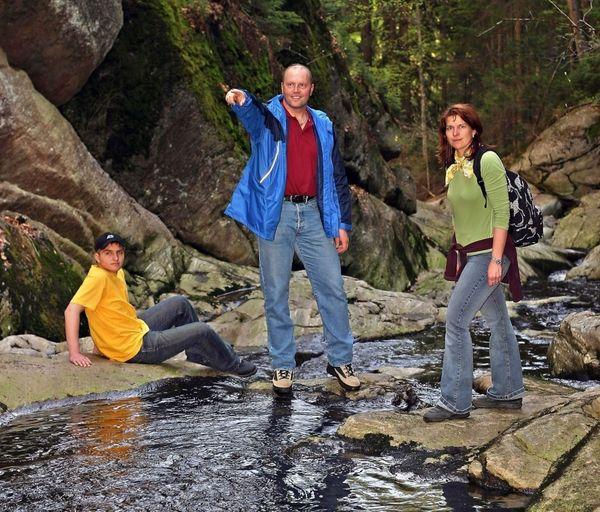 Wandererlebnis in der Steinklamm in Spiegelau
