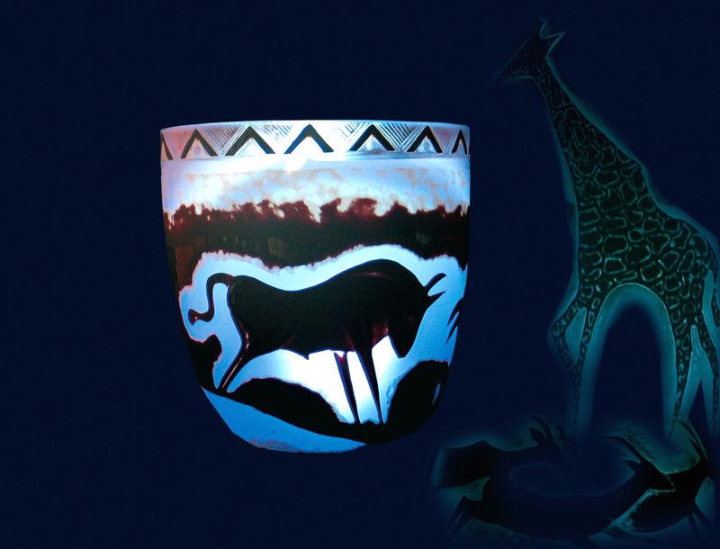 Glaskunst-Objekt beim Via Artis SpiRi in Spiegelau und St. Oswald-Riedlhütte