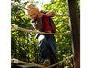 Kletterspaß im Waldspielgelände in Spiegelau