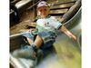 Kinderspaß auf der Rutsche im Waldspielgelände in Spiegelau