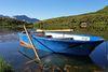 Carschinasee mit Ruderboot