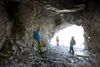 Retour ans Tageslicht im Klettersteig Gauablickhöhle