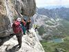 Klettersteig Partnunblick mit Aussicht auf den Partnunsee