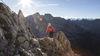 Klettersteig Partnunblick mit Schijenfluh im Hintergrund