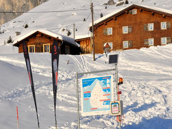 Das Trainingscenter gleich unterhalb vom Berghaus Sulzfluh