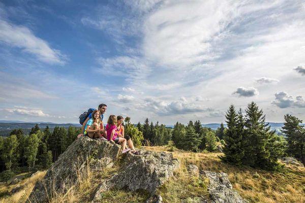Naturdenkmal Hochfels bei Schönsee im Oberpfälzer Wald.