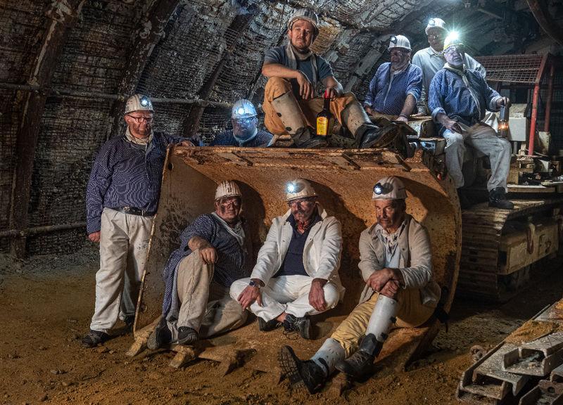 Bergleute im Bergwerk Velsen