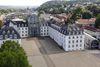 Luftbild Schlossplatz mit Historischem Museum Saar