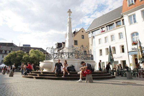 Brunnen auf dem St. Johanner Markt