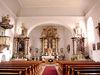 Innenraum der Pfarrkirche Stallwang in der Region Vorderer Bayerischer Wald
