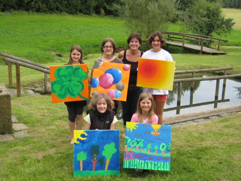 Malkurs beim Ferienprogramm in Kinderland-Ort Stamsried im Bayerischen Wald