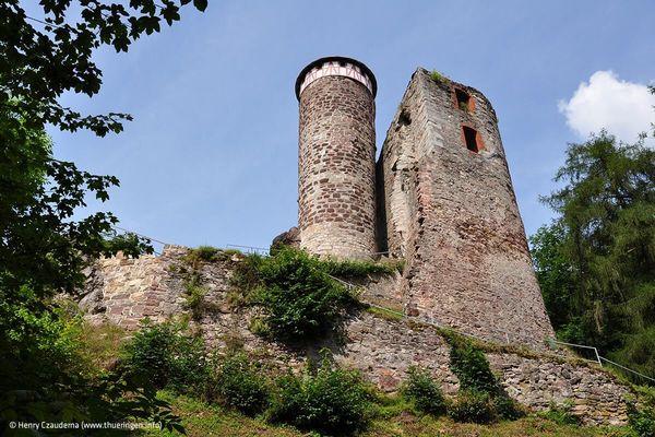 Burgruine Hallenburg in Steinbach-Hallenberg