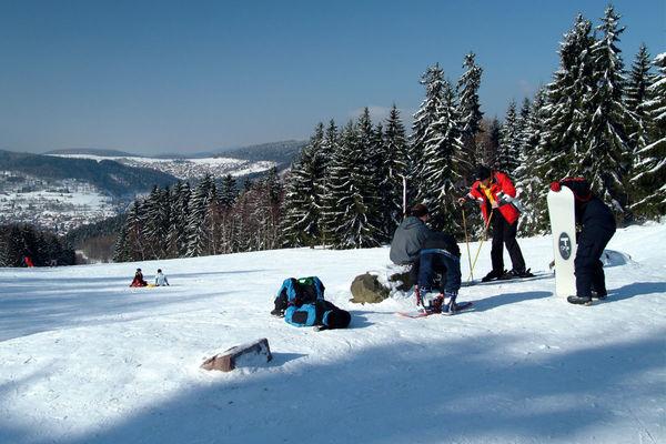 Skilift an der Kniebreche