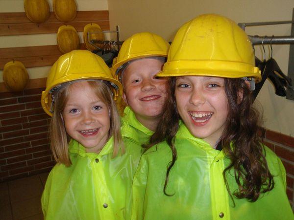 Besucher-Kinder im Bergwerk (Foto: Susanne Thomas)