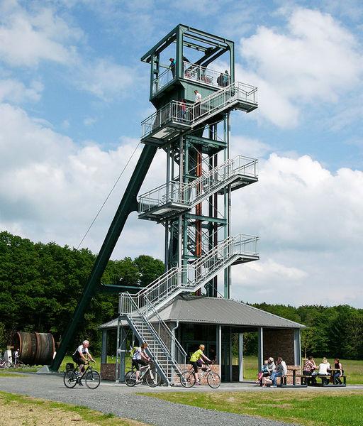 Barbaraturm nahe der Grube Bindweide (Foto: Joachim Weger)